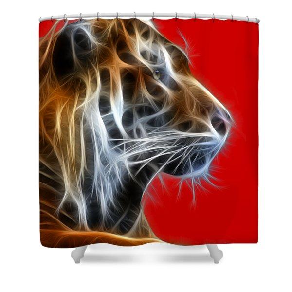 Tiger Fractal 2 Shower Curtain