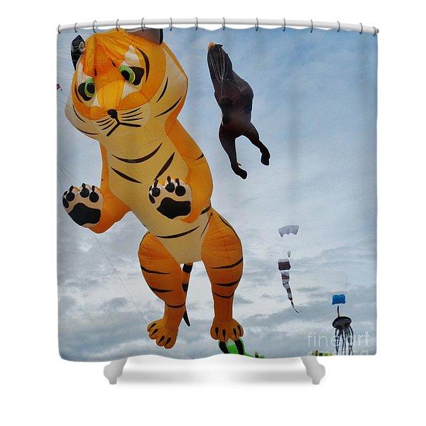 Tiger Kite Shower Curtain