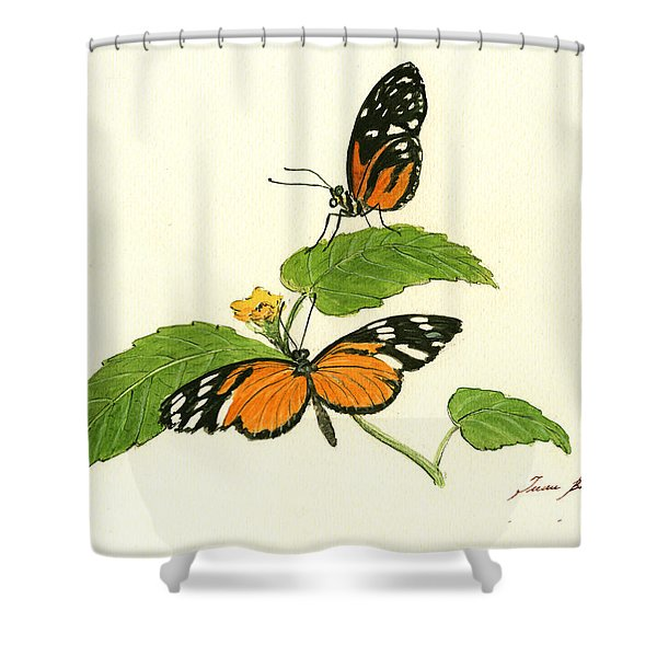Tiger Longwing Heliconian Shower Curtain