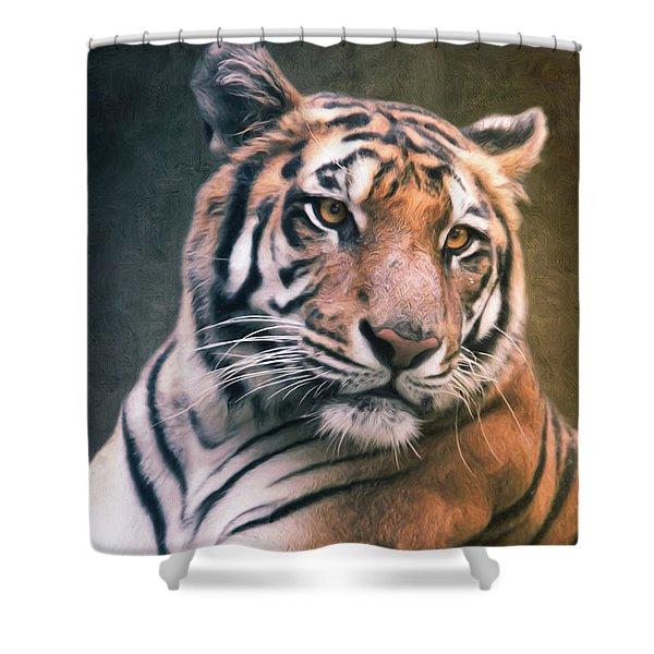 Tiger No 6 Shower Curtain