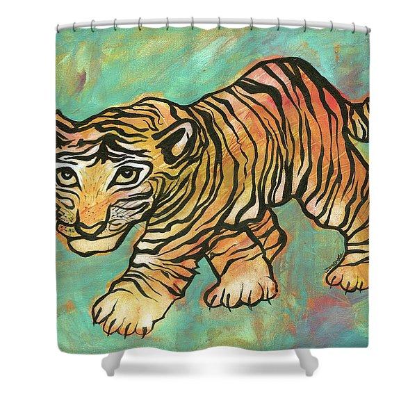 Tiger Trance Shower Curtain