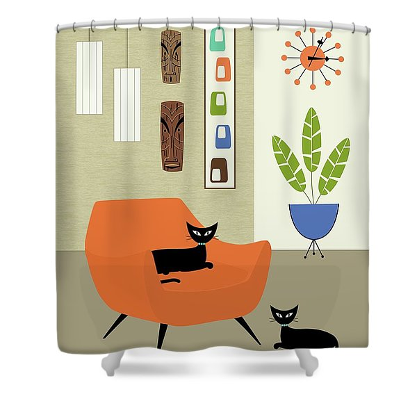 Tikis On The Wall Shower Curtain