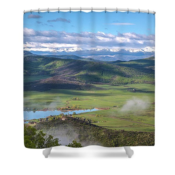 Timbers View  Shower Curtain