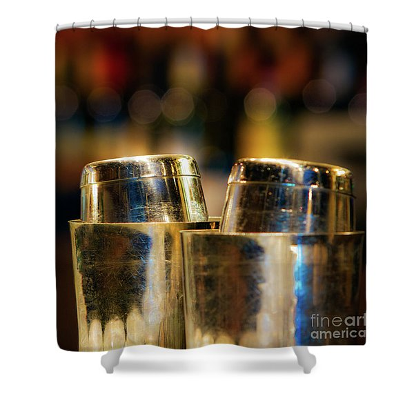 Time For A Cocktail Shower Curtain