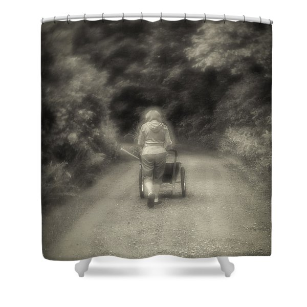 Time Of Growth-sepia Shower Curtain