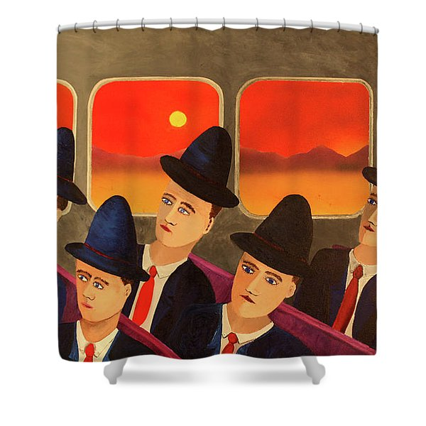 Time Passes By Shower Curtain