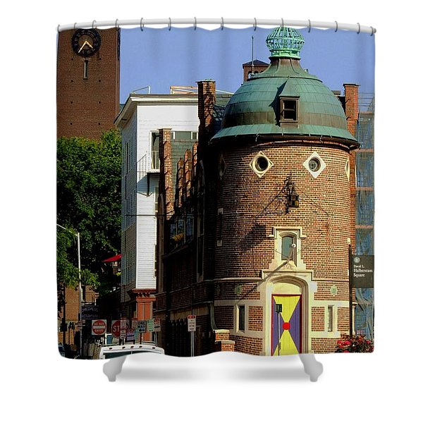 Time To Face The Harvard Lampoon Shower Curtain