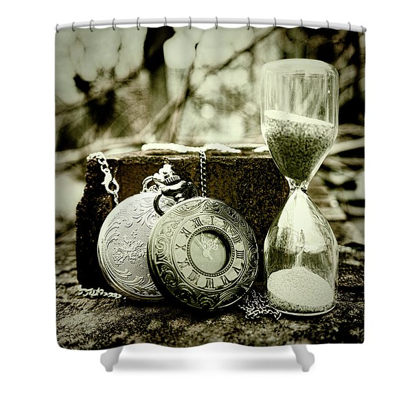 Time Tools Shower Curtain