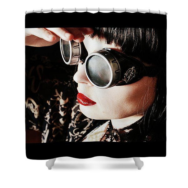 Time Traveling Beauty Shower Curtain