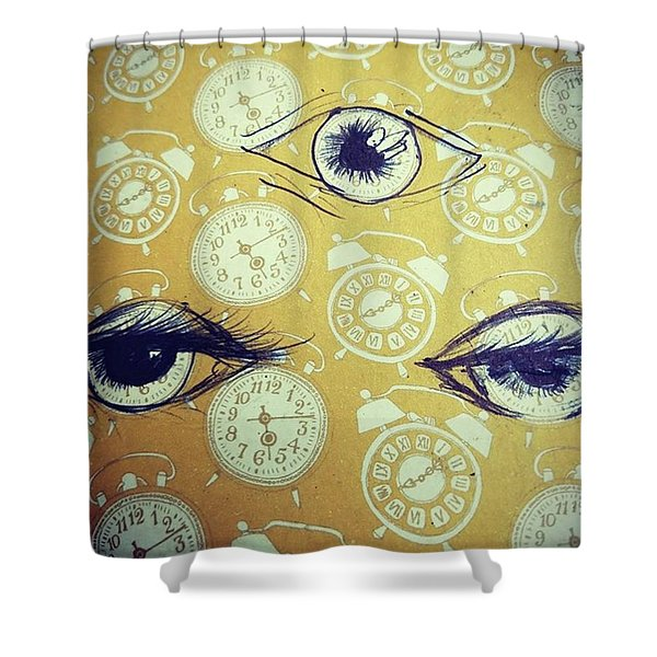 Time Waits For No Man, And Tomorrow Is Shower Curtain