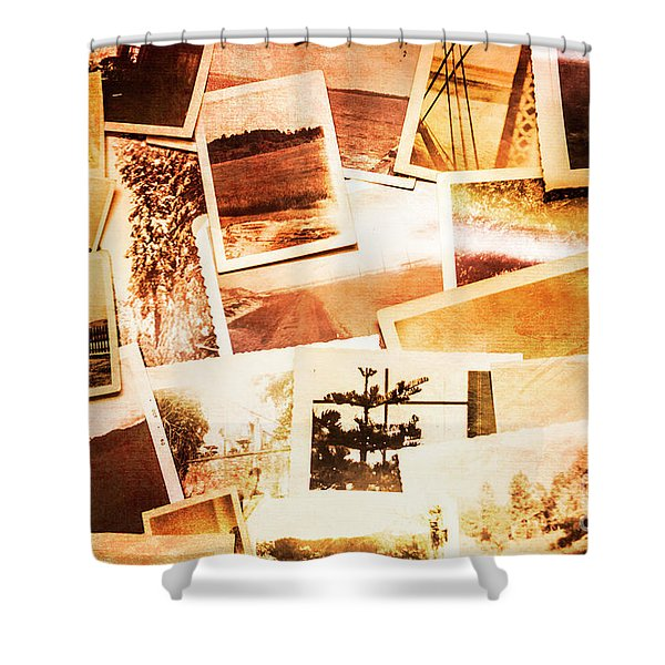 Time Worn Scenes And Places Background Shower Curtain