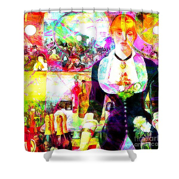 Timeless Art A Bar At The Den Folies Bergere 20160228 Square Shower Curtain