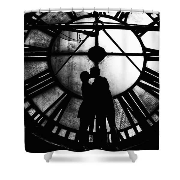Timeless Love - Black And White Shower Curtain