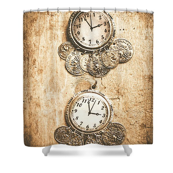 Timepieces From Bygone Fashion Shower Curtain