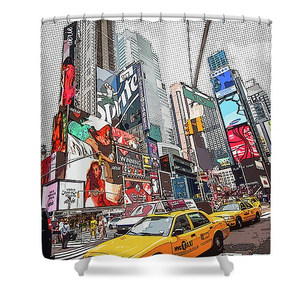 Times Square Pop Art Shower Curtain