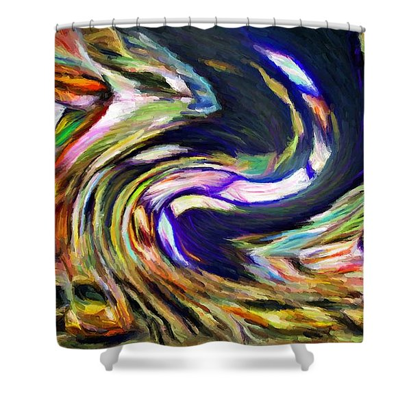 Times Square Swirl Shower Curtain