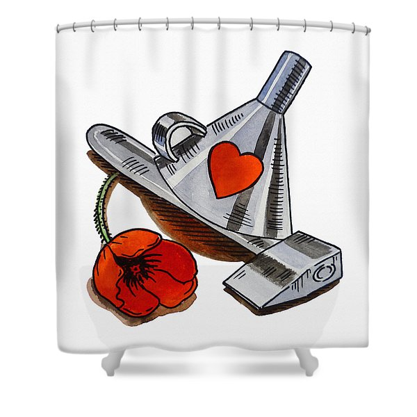 Tin Man Hat The Wizard Of Oz Shower Curtain