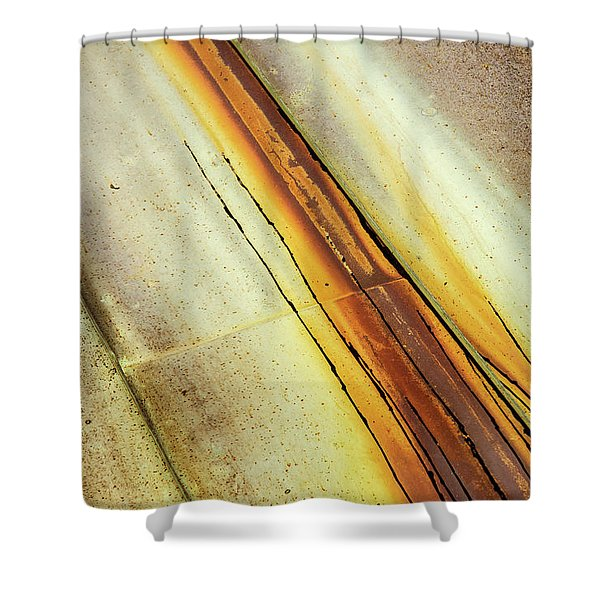 Tin Roof Abstract Shower Curtain