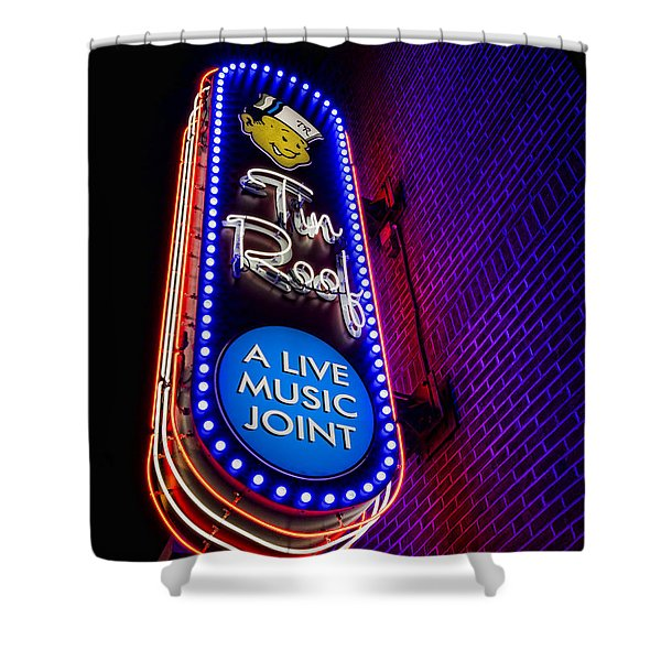 Tin Roof Beale Street Shower Curtain