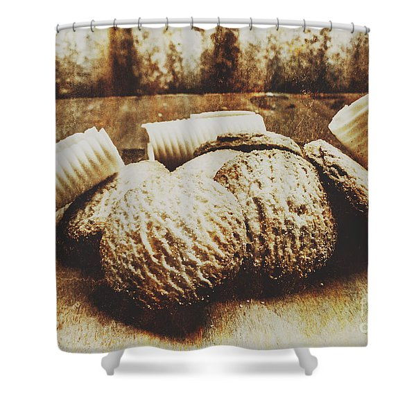 Tin Sign Baked Butter Biscuits Shower Curtain