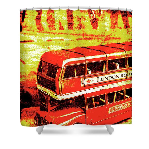 Tin Sign Travels Shower Curtain