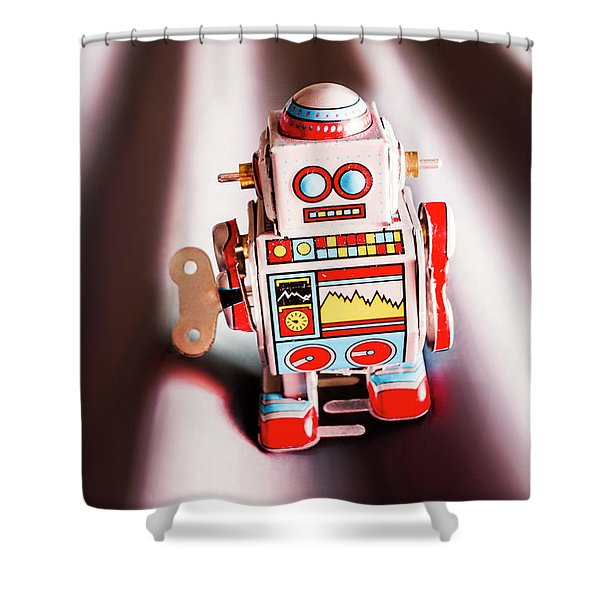 Tin Toys From 1980 Shower Curtain