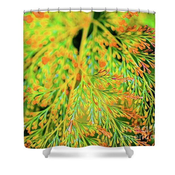 Tiny Flowers Blooming  Shower Curtain