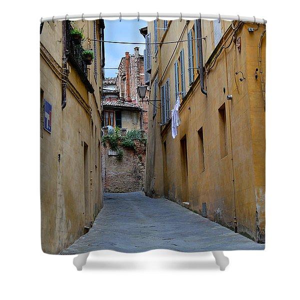 Tiny Street In Siena Shower Curtain
