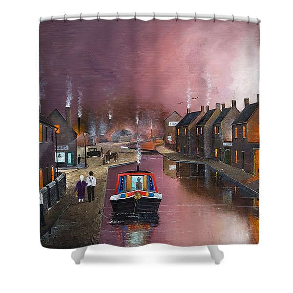 Shower Curtain featuring the painting Tipton Green Branch by Ken Wood
