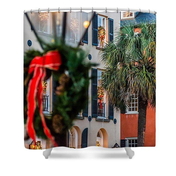 Tis The Season - Charleston Sc Shower Curtain