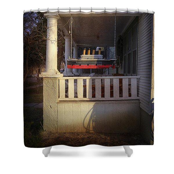 Titanic Porch Shower Curtain
