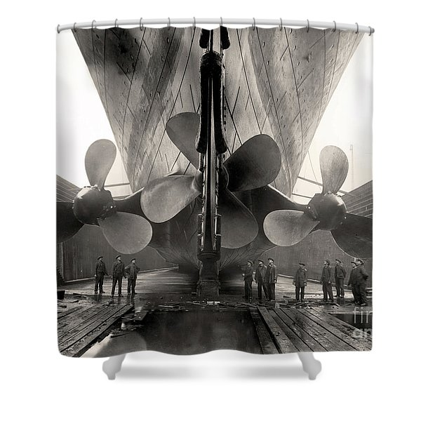 Titanic's Propellers  Shower Curtain