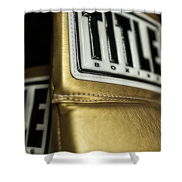 Title Boxing Gloves Shower Curtain