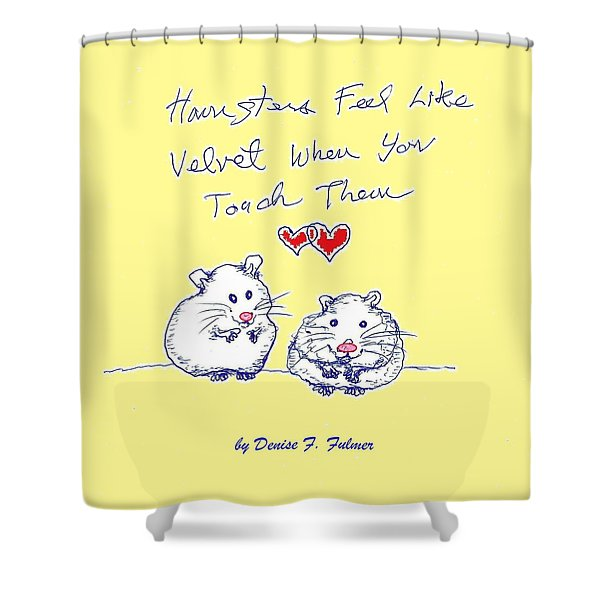 Title Page For Hamster Book Shower Curtain