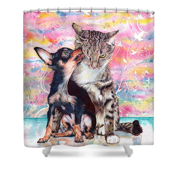 Tito And The Fonz Shower Curtain