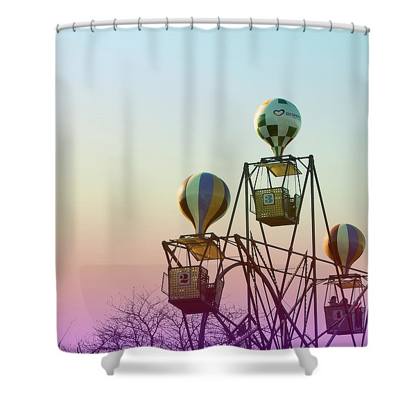 Tivoli Balloon Ride Shower Curtain
