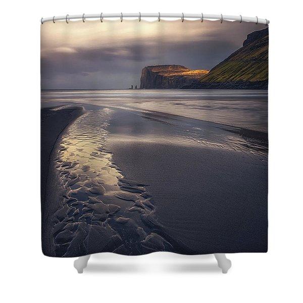 Tjornuvik Beach Shower Curtain