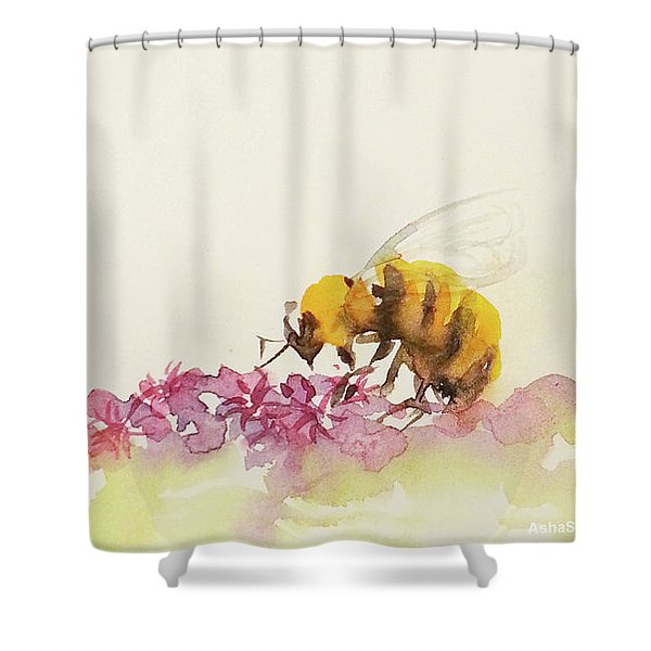 To Bee Or Not To Be Miniature Shower Curtain