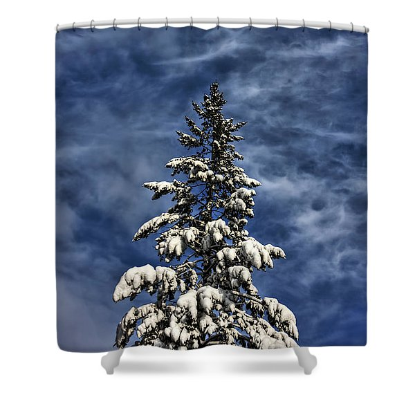 To Blue Horizons Shower Curtain