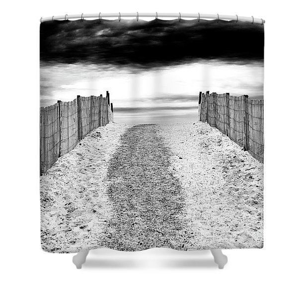 To The Beach At Lbi Shower Curtain
