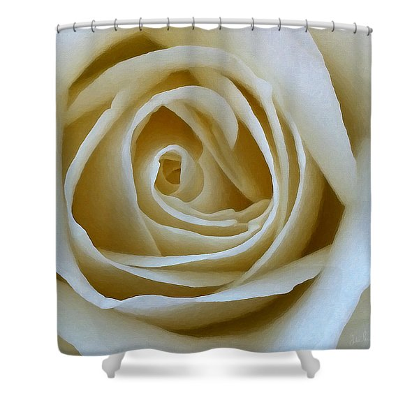 To The Heart Of The Rose Shower Curtain