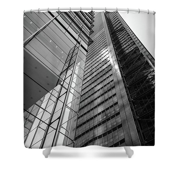 To The Top   -27870-bw Shower Curtain