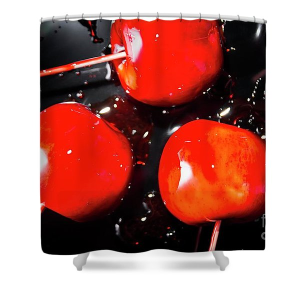 Toffee Apple Splash. Fine Art Food Shower Curtain