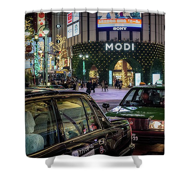 Tokyo Taxis, Japan Shower Curtain