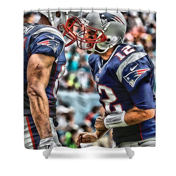 Tom Brady Art 4 Shower Curtain