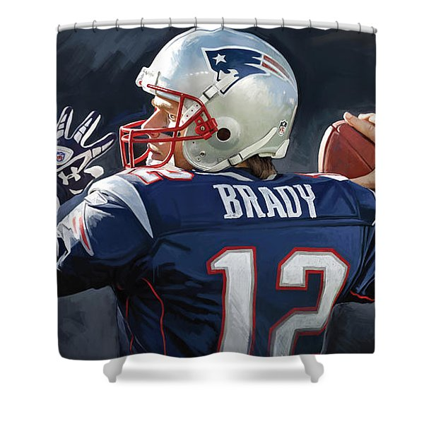 Tom Brady Artwork Shower Curtain