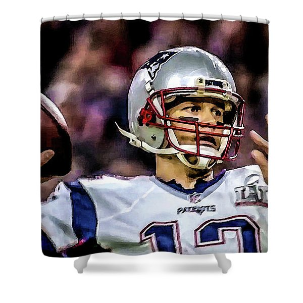 Tom Brady - Touchdown Shower Curtain