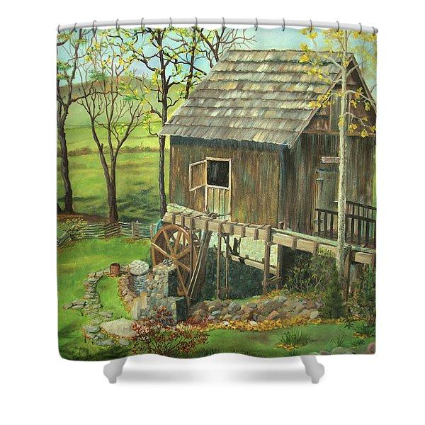 Tom Lott's Mill In Georgia Shower Curtain