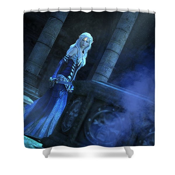 Tomb Of Shadows Shower Curtain