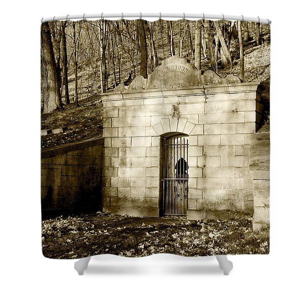 Tomb With A View In Sepia Shower Curtain